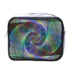 Psychedelic Spiral Mini Travel Toiletry Bag (one Side) by StuffOrSomething