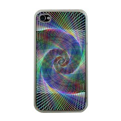Psychedelic Spiral Apple Iphone 4 Case (clear) by StuffOrSomething