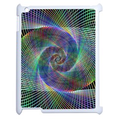 Psychedelic Spiral Apple Ipad 2 Case (white) by StuffOrSomething