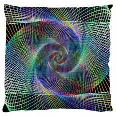 Psychedelic Spiral Large Cushion Case (two Sided)  by StuffOrSomething