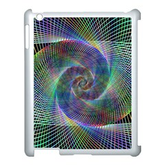 Psychedelic Spiral Apple Ipad 3/4 Case (white) by StuffOrSomething