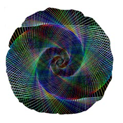 Psychedelic Spiral Large 18  Premium Round Cushion  by StuffOrSomething