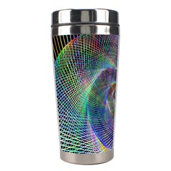 Psychedelic Spiral Stainless Steel Travel Tumbler by StuffOrSomething