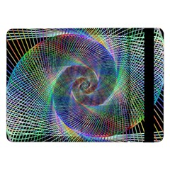 Psychedelic Spiral Samsung Galaxy Tab Pro 12 2  Flip Case by StuffOrSomething