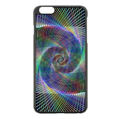 Psychedelic Spiral Apple Iphone 6 Plus Black Enamel Case by StuffOrSomething