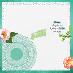 Blues Skies By Lisa Hanks   Scrapbook Page 12  X 12    709qh68od4zh   Www Artscow Com 12 x12 Scrapbook Page - 1