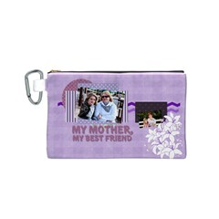 Mothers Day By Mom   Canvas Cosmetic Bag (small)   7xsuhrex689z   Www Artscow Com Front