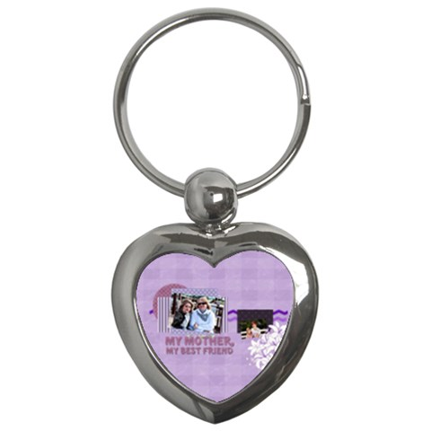 Mothers Day By Mom   Key Chain (heart)   P9v8j6oioi8i   Www Artscow Com Front