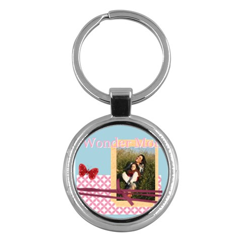 Mothers Day By Mom   Key Chain (round)   Fjq99cyjknhh   Www Artscow Com Front