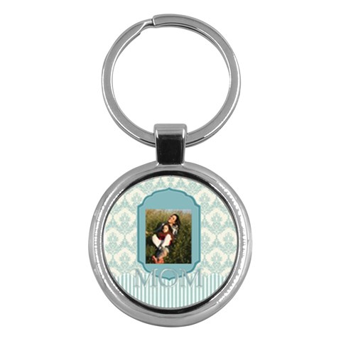 Mothers Day By Mom   Key Chain (round)   L4ryegwwtna3   Www Artscow Com Front