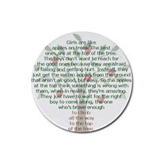 Girls Are Like Apples Drink Coaster (Round) by TheWowFactor