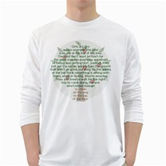 Girls Are Like Apples Men s Long Sleeve T Shirt (white) by TheWowFactor