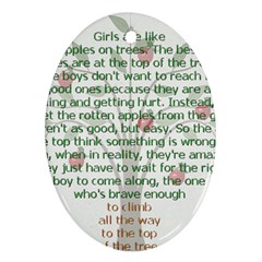 Appletree Oval Ornament (two Sides) by TheWowFactor