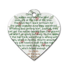 Appletree Dog Tag Heart (two Sided) by TheWowFactor