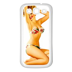 Sexy Bikini Pinup Samsung Galaxy S3 Back Case (white) by TheWowFactor