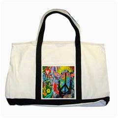 The Sixties Two Toned Tote Bag by TheWowFactor