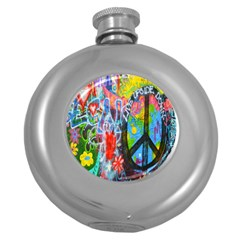 The Sixties Hip Flask (round) by TheWowFactor