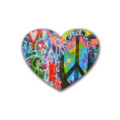The Sixties Drink Coasters 4 Pack (heart)  by TheWowFactor
