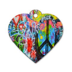 The Sixties Dog Tag Heart (one Sided)  by TheWowFactor