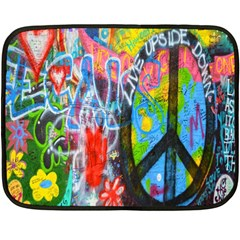 The Sixties Mini Fleece Blanket (two Sided) by TheWowFactor
