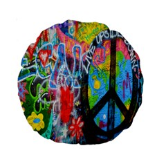 The Sixties Standard 15  Premium Round Cushion  by TheWowFactor