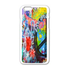The Sixties Apple Iphone 6 White Enamel Case by TheWowFactor