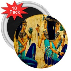 Egyptian Queens 3  Button Magnet (10 Pack) by TheWowFactor