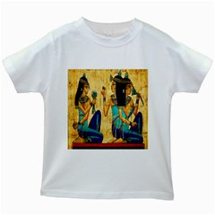 Egyptian Queens Kids T Shirt (white) by TheWowFactor