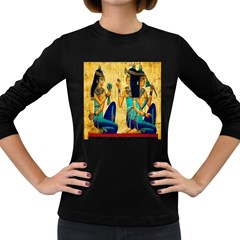 Egyptian Queens Women s Long Sleeve T Shirt (dark Colored) by TheWowFactor