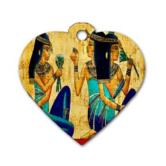 Egyptian Queens Dog Tag Heart (two Sided) by TheWowFactor