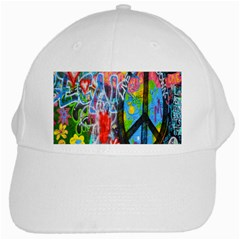 The Sixties White Baseball Cap by TheWowFactor