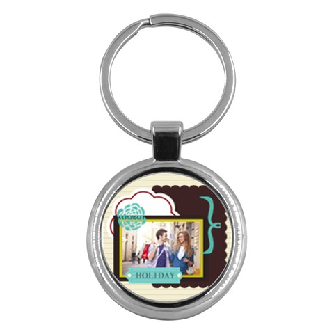 Summer By Summer Time    Key Chain (round)   8xs443ixjmuj   Www Artscow Com Front