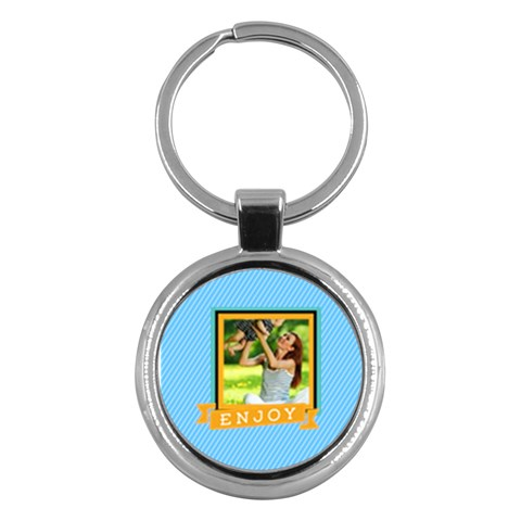 Summer By Summer Time    Key Chain (round)   I259q2i866bv   Www Artscow Com Front