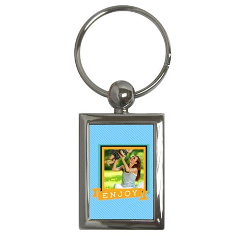 Summer By Summer Time    Key Chain (rectangle)   Elbc9dwxft07   Www Artscow Com Front