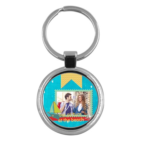 Summer By Summer Time    Key Chain (round)   Cvp501425uqt   Www Artscow Com Front