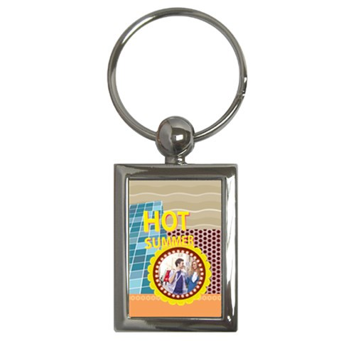 Summer By Summer Time    Key Chain (rectangle)   Kqhs3wdckojs   Www Artscow Com Front