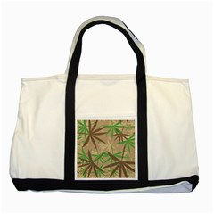 Leaves Two Tone Tote Bag by LalyLauraFLM