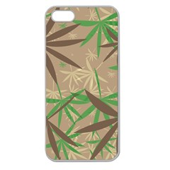 Leaves Apple Seamless Iphone 5 Case (clear) by LalyLauraFLM