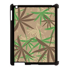 Leaves Apple Ipad 3/4 Case (black) by LalyLauraFLM