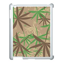 Leaves Apple Ipad 3/4 Case (white) by LalyLauraFLM