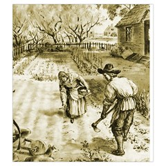 New England Draw Bag By Dean   Drawstring Pouch (medium)   Ilrye9372ofd   Www Artscow Com Back