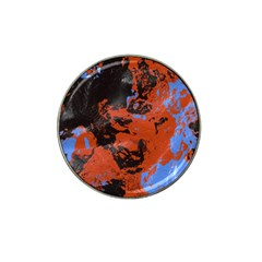 Orange Blue Black Texture Hat Clip Ball Marker by LalyLauraFLM