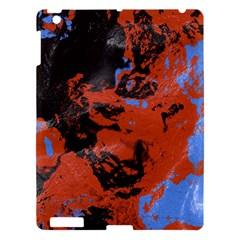 Orange Blue Black Texture Apple Ipad 3/4 Hardshell Case by LalyLauraFLM