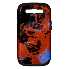 Orange blue black texture Samsung Galaxy S III Hardshell Case (PC+Silicone) by LalyLauraFLM