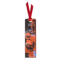 Orange Blue Black Texture Small Book Mark by LalyLauraFLM