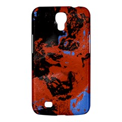 Orange Blue Black Texture Samsung Galaxy Mega 6 3  I9200 Hardshell Case by LalyLauraFLM