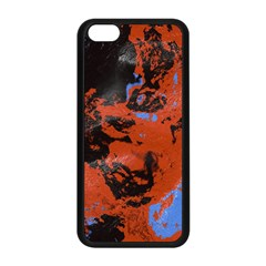 Orange Blue Black Texture Apple Iphone 5c Seamless Case (black) by LalyLauraFLM