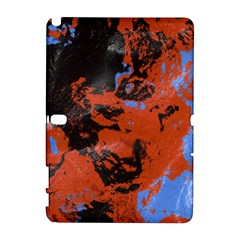 Orange Blue Black Texture Samsung Galaxy Note 10 1 (p600) Hardshell Case by LalyLauraFLM