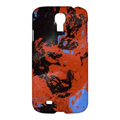Orange Blue Black Texture samsung Galaxy S4 I9500/i9505 Hardshell Case $10 by LalyLauraFLM
