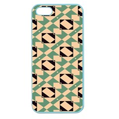 Brown Green Rectangles Pattern Apple Seamless Iphone 5 Case (color) by LalyLauraFLM